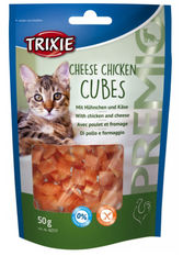 Kattgodis premio cheese chicken cubes