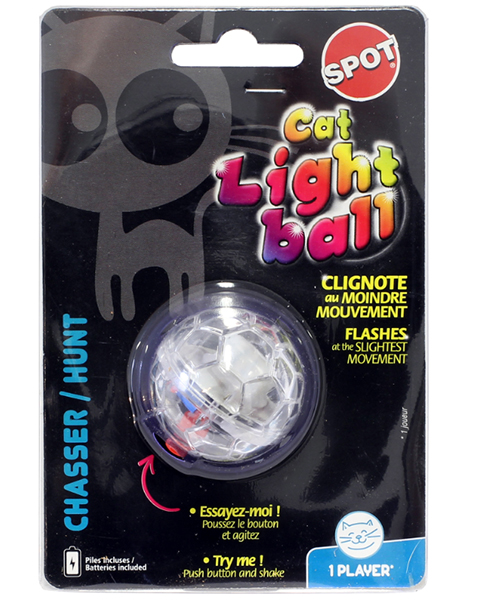 Cat light ball kattleksak