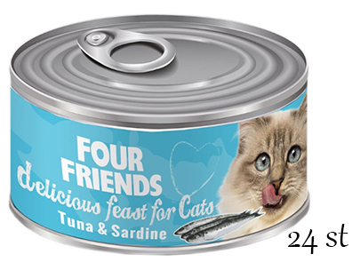 Four Friends Tuna & Sardin 24-pack